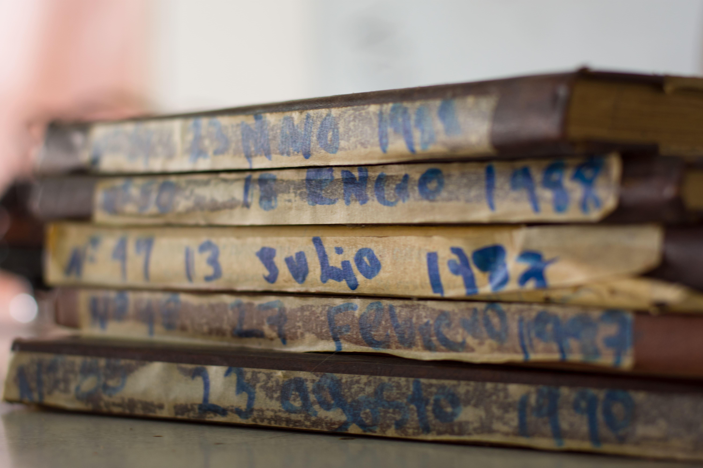 Libro de registro del Cuerpo de Bombero de Marsella, Risaralda.